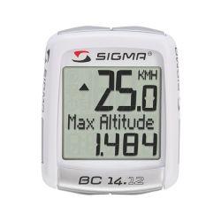 Compteur Sigma BC 14.12 ALTI blanc avec fil