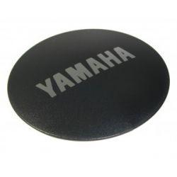 Cache moteur Yamaha logo argent